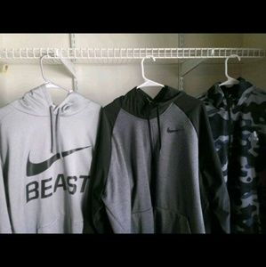 Nike hoodies and adidas zip up
